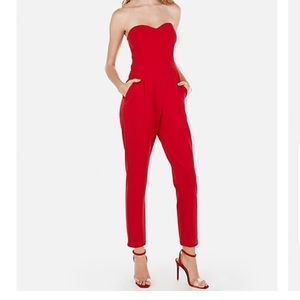 Express Red Jumpsuit Size 2